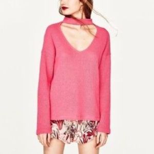 Zara Sweater Pink Size Large | New with Tags